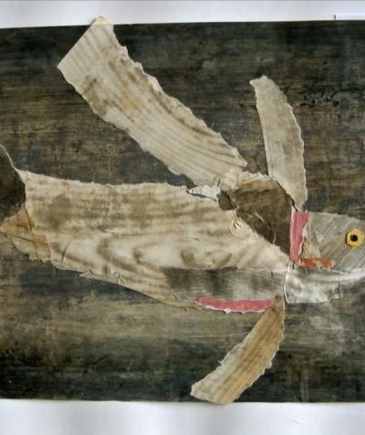 Sans titre (poisson gris oeil jaune)